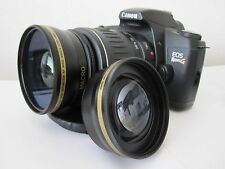 Wide Angle Tele Lens For Canon Eos Digital Rebel t5i  t3i sl1 xti xt w/18-55 u