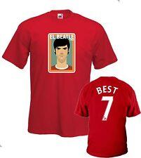T-Shirt Hi-Qty Fruit El Beatle 1968 George BEST 7 Manchester United tg. S->XL
