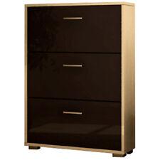Scarpiera legno design moderna tre ante bianco laccato grigio SC8797 L80h109p25
