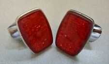 NICE PAIR OF USED ORIGINAL GENUINE PORSCHE 356B 356C REAR REFLECTORS ULO No 135