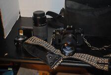 Sears Brand KS Super 35 MM Camera, Flash, 3 Lenses, strap and bag