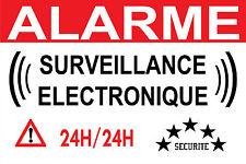 """Panneau """"alarme surveillance éléctronique"""""""
