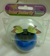 BLUE POT SOLAR POWER DANCING BUTTERFLY..(●_●).(●_●)..