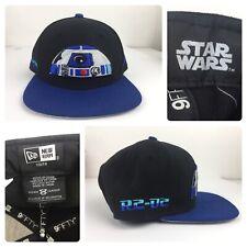 Star Wars R2D2 New Era 9fifty Original Fit Youth Snap Back Black Blue Hat