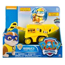 Paw Patrol Vehicle with Pup Rubble's Dump Truck Collectable Toy Figure Model