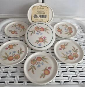 Cloverleaf Peaches & Cream 5 x Melamine Coasters in Lidded Container