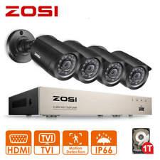 ZOSI 8CH H.265+ CCTV Security Camera 1080P TVI DVR Video Home Outdoor System 1TB