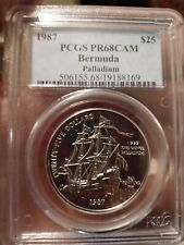 1987 Bermuda Sea Venture $25 Palladium Proof Coin PCGS PR68CAM FREE SHIPPING