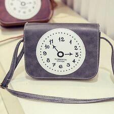 Women Lady Vintage Leather Satchel Crossbody Shoulder Bag Handbag Tote Bag Grey