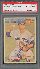 1957 Topps #306 Darrell Johnson PSA/DNA Certified Authentic Auto Autograph *2258