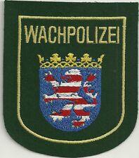 Polizei HESSEN  Patch WACHPOLIZEI  90er Jahre Ärmel-Abzeichen Stoffabzeichen # A