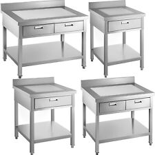 Vevor Commercial Stainless Steel Restaurant Kitchen Prep Work Table With Drawer