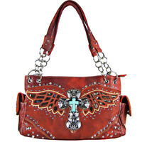 BLACK SEQUENCE TRIBAL STITCHED SHOULDER HANDBAG AZTEC CONCEALED CARRY WESTERN