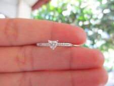 .50 CTW Heart Shape Diamond White Gold Engagement Ring 18k ER56 sep *