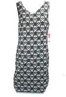 VINCE CAMUTO WOMEN'S SLEEVELESS FLORAL SHIFT DRESS BLACK/WHITE Medium NEW $109