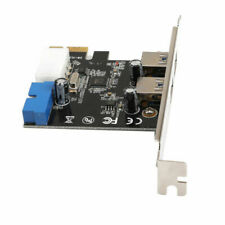 2 Port USB 3.0 Pci-e Expansion Card 19pin Header 4pin IDE Power Connector SS