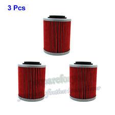 3 Pcs Oil Filter For SP 998 TUONO SL1000 RSV MILLE ETV1000 CAN-AM APRILIA
