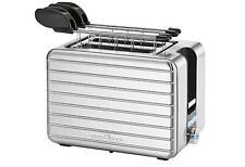 Retro Toaster 2 Scheiben Brötchenaufsatz Krümelschublade Schnellstoppfunktion