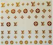 3D Nail Art Decals Stickers Charms Gold Logo Crosses (3D6002)