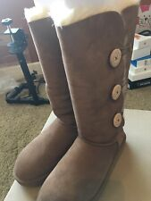 Women's UGG Australia Bailey Button Triplet Boots In Chestnut, Size 9