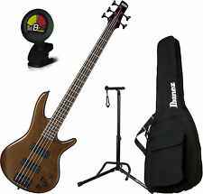 Ibanez Sound Gear GSR205BWNF 5-String Walnut Flat Bass Guitar Bundle!