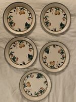 NORITAKE *NATURE'S BOUNTY*( LOT OF 5 ) KELTCRAFT DINNER/4 SALAD PLATES IRELAND