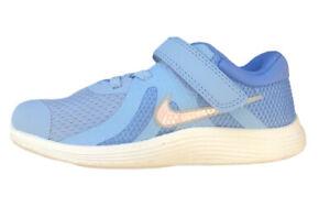 Nike Revolution 4 (TD) LT BLUE SPARKLE SWOOSH GIRL Toddler Running Shoe-SZ 8 C