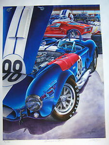 1965 Shelby Cobra in White New Metal Sign LARGE SIZE  12 X 16