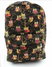 Cartoon Owl Backpack (Black)