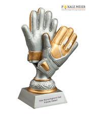 Fußballpokal Torwarthandschuh gold silber 200 mm inklusive Gravur | Pokale Meier