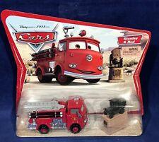 New - STANLEY & RED - Pixar Cars ORIGINAL DESERT CARD - Fire Engine Truck MOC
