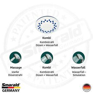 Duschplatte Ø 80 mm mit Silikonnoppen und Kalkschutzfunktion für Duschkopf