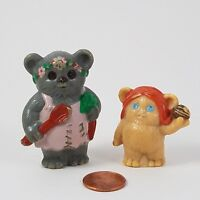 VINTAGE 1984 Star Wars Ewok Family Tree House Hut Figures SET OF TWO Kenner RARE