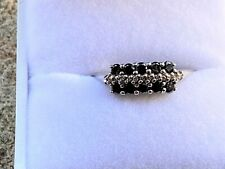 Vintage Diamond & Sapphire Dress Ring - English Hallmarks