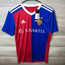 Adidas Womens Size Medium Blue/Red Basel Home Short Sleeve Jersey Football Shirt