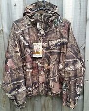 Mossy Oak Camo WATERPROOF Hunting Jacket with Hood - LARGE