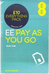 OFFICIAL EE NETWORK TRIO SIM CARD - £10 EVERYTHING PACK