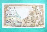 TRES RARE BILLET 1000 FRANCS DEMETER  25/06/1943 SUP+!! Super craquant !!