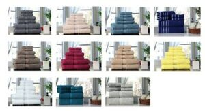 Towel Set 6 PC Set 100% Cotton 600 GSM 2 Bath 2 hand 2 wash Towels Excel Hometex