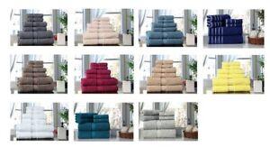 Towel Set 6 PC Set 100% Cotton 600 GSM 2 Bath 2 hand 2 wash Towels Excel Hometex