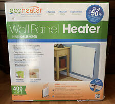 Wall Mount Space Heater ECO-Heater T400L Ceramic 400W Convect - Thermostat NEW!