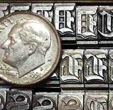 Alphabets Metal Letterpress Print Type  Cloister  30pt  Old English  MM79  10#
