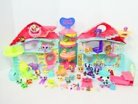 Biggest Littlest Pet Shop Playset Lot Figures Accessories Hasboro LPS Playhouse