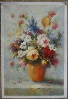 "24x36"" Art oil painting on canvas still life Impressionism flower hand-painted"