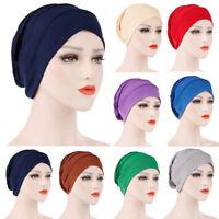 New Women India Muslim Ruffle Cancer Chemo Hat Beanie Scarf Turban Head Wrap Cap