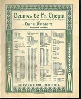 """Chopin """" Walzer Op. 34 No. 1 in Fis dur , übergroße, alte Noten"""