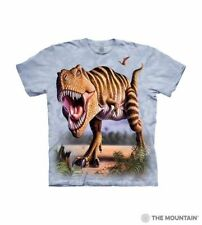 The Mountain Kid's T-Shirt Striped Rex Dinosaurs S-M-L-XL Youth Tee  NWT.