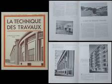 LA TECHNIQUE DES TRAVAUX n°11 1939 CANAL ALBERT LIEGE GENCK, PONT FARJSUND,