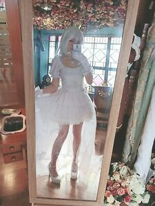 Mario Boo Boosette Cosplay Costume with wig
