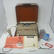 Vintage Smith Corona 5TE Electric Typewriter with Case & Key 1950s SEE VIDEO